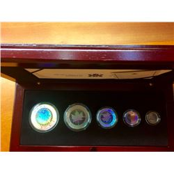 RCM: 2003 Silver Maple Leaf Hologram Set