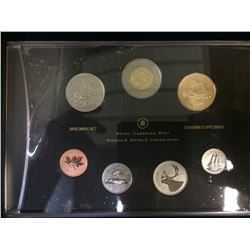 MRC: 2012-1987 Specimen set-25th anniversary of the Loonie