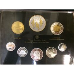 MRC: 2012 Proof set War of 1812, with gold plated silver Penny
