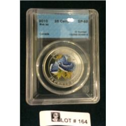 MRC: 2010 25 Cents Blue Jay  SP-68 CCCS
