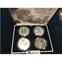 Britania Design One Ounce Silver Bullion Four-Coin Set