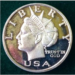USA: 2003 10$ Silver 1 Oz .999 Fine Liberty Dollar