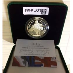 United kingdom: 2004-1904 Silver Piedfort Crown, 100 th Anniversary of the Entente Cordiale  56,56 g