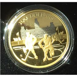 RCM: 2006 100$ Gold Coin-14 karat, Weight 12 gr-75th Game in the World's Longest Running Internation
