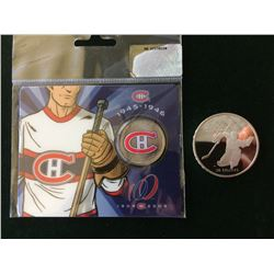 RCM: 1988 Calgary 20 dollar silver coin & 2009-1909 50 cents Montreal Canadien-coin 2/6