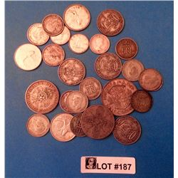 World Coins: Silver Scrap .500% Lot of 26 pieces 118,64 gr