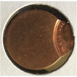 USA: Blank Penny Badly Struck