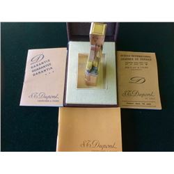Authentic Vintage S.T.DUPONT PARIS Goldtone LIGHTER w/ CASE Made in France ,Never bean use since 40