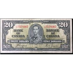 Banknote: 1937 Canada 20 Dollars  Coyne-Towers BC-25c J/E 7578067