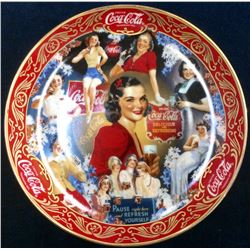 "Coca-Cola Limited Edition Fine Porcelain ""30's Beauties"" serial: Ra3881 From The Franklin Mint"