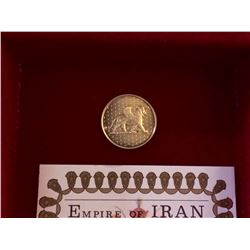 Iran: 1971 500 Rials Gold .900 Proof Coin, First Limited Issue 6,54gr