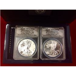 USA 2013 W $1 Silver Eagle West Point Mint-Set ANACS EU70 D CAM & RP70 DCAM, First Strike Coin Certi