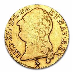 1787-A France Gold Louis D'or  230 Years Old.  .2255 oz actual Gold weight.