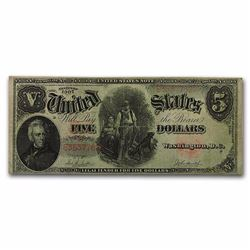 1907 $5.00 Legal Tender Andrew Jackson/Woodchopper VG