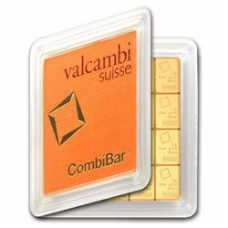 20x 1 gram Gold CombiBar™ - Valcambi (In Assay) 999,9 Gold