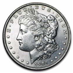 1901 Morgan Dollar BU MS-63