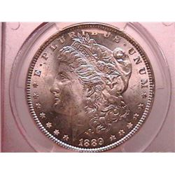 1889 MORGAN SILVER DOLLAR MS64 PCGS