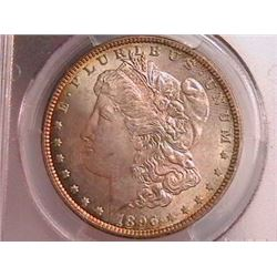 1896 Morgan Dollar Ch MS64 PCGS