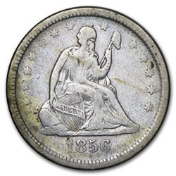 1856 Liberty Seated Quarter VF