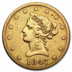 $10 Liberty Gold Eagle No Motto Type ( Minted 1838-1866)