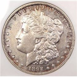 1892-S Morgan Silver Dollar XF-45  RARE LOW MINTAGE