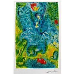 "LARGE CHAGALL GICLEE ""THE MAGIC FLUTE"" 42""X 30"" W/COA"