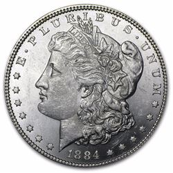 1884 Morgan Dollar BU MS-63