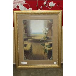 GOLD FRAMED MYSTICAL GARDEN PICTURE