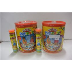2 PLAY-DOH SETS & 2 SLEEVES OF PLAY-DOH