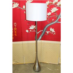 MODERN CHROME TEARDROP FLOOR LAMP
