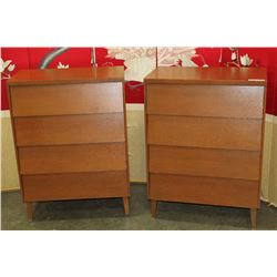 PAIR OF 4 DRAWER DRESSERS