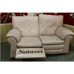 NATUZZI LEATHER LOVESEAT