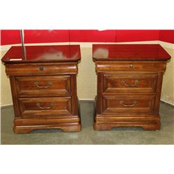 PAIR OF 3 DRAWER NIGHTSTANDS