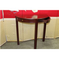 2 DOOR MAHOGANY FINISH HALL TABLE