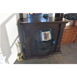 DESIGNER FIREPLACE MANTLE W/ INSERT