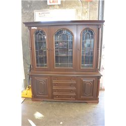 2 PC GLASS DOOR DISPLAY CABINET
