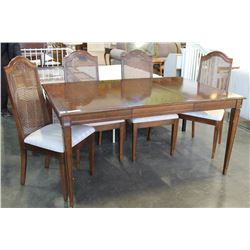 DINING TABLE W/ LEAF & 4 CHAIRS