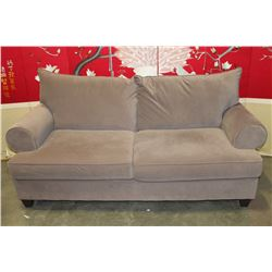 GREY MICROFIBRE SOFA