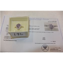 STERLING LADIES RING WITH AMETHYST STONES