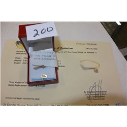 10KT YELLOW GOLD DIAMOND RING WITH APPRAISAL $2750