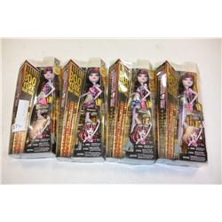 4 MONSTER HIGH DOLLS