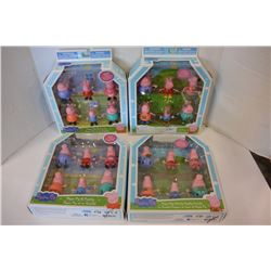 4 PEPPA PIG & FAMILY SETS