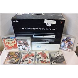 PLAY STATION THREE WITH GAMES