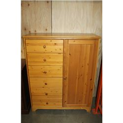 PINE DRESSER WITH CUPBOARD