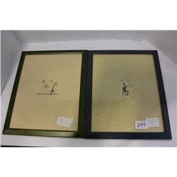 PAIR OF SIGNED AND DATED HAGAN 1997 ARTWORKS