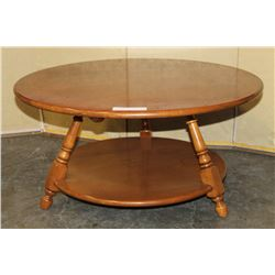 ROUND MAPLE COFFEE TABLE