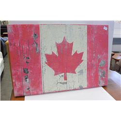 CANADIAN FLAG PRINT ON CANVAS