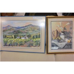 SIGNED WATER COLOR STILL LIFE