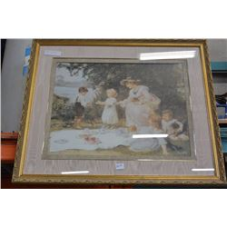 LARGE GILT FRAME PICTURE