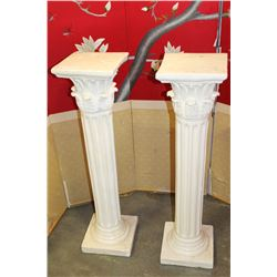 PAIR OF DECORATIVE PILLARS